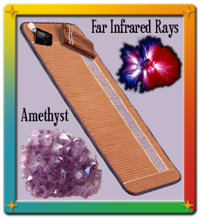 Bio-mat with infrared light, negative ion technology and amethyst