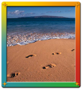 Life Coaching, Footsteps, God's Path, Path of Footsteps in the Sand